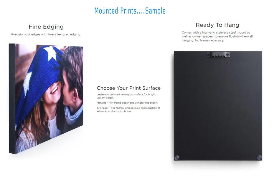 Mounted Prints Sample